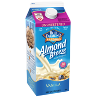 Almond Breeze Unsweetened Vanilla Almond Milk Non Dairy Milk Alternative
