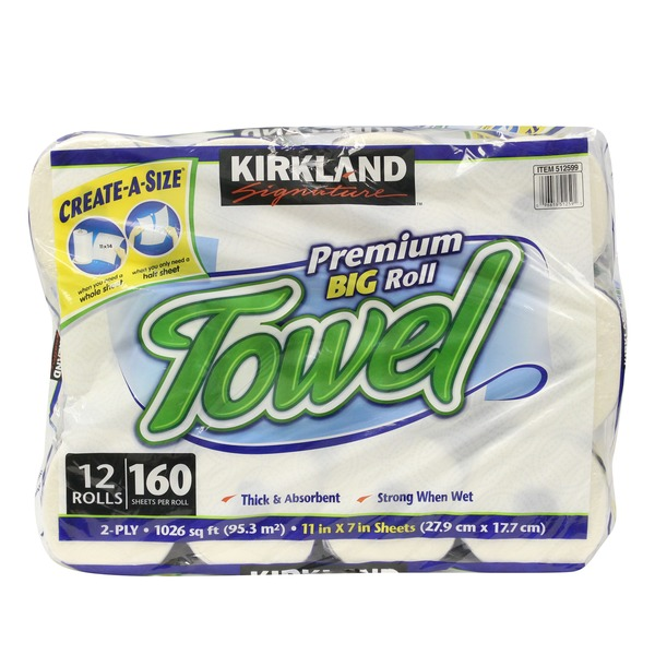 Kirkland Signature Create A Size Premium Big Roll Towel