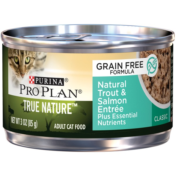 Pro Plan Cat Wet True Nature Adult Grain Free Formula Natural Trout & Salmon Entree Classic Cat Food