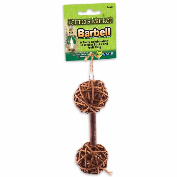Critter Ware Small Willow Barbell Chew Toy