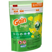 Gain flings! Laundry Detergent Pacs Original Scent, 31 count