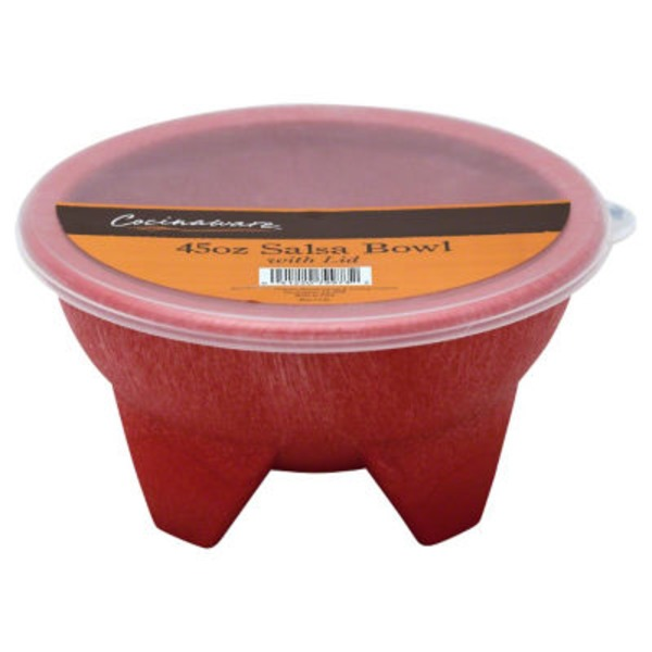 Cocinaware Large Red 45 Oz Salsa Bowl