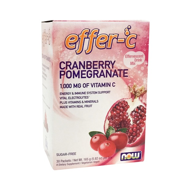 Now Effer C Cranberry Pomegranate 1,000 mg vitamin C Effervescent Drink packets
