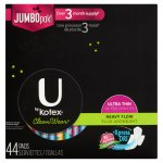 U by Kotex CleanWear Ultra Thin Pads with Wings, Heavy Flow, Unscented (Choose Count)