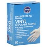 Kroger One Size Fits All Vinyl Gloves
