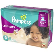 Pampers Cruisers Diapers, Size 6, 18 Diapers