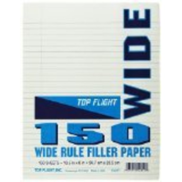 Top Flight Wide Rule Filler Paper