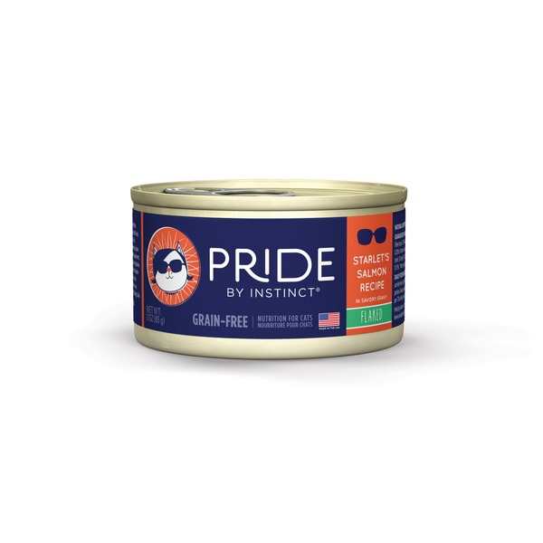 Nature's Variety Pride By Instinct Grain Free Flaked Starlet's Salmon Canned Cat Food Case