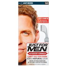 Just For Men AutoStop Men's Hair Color, Light Brown, Shade A-25