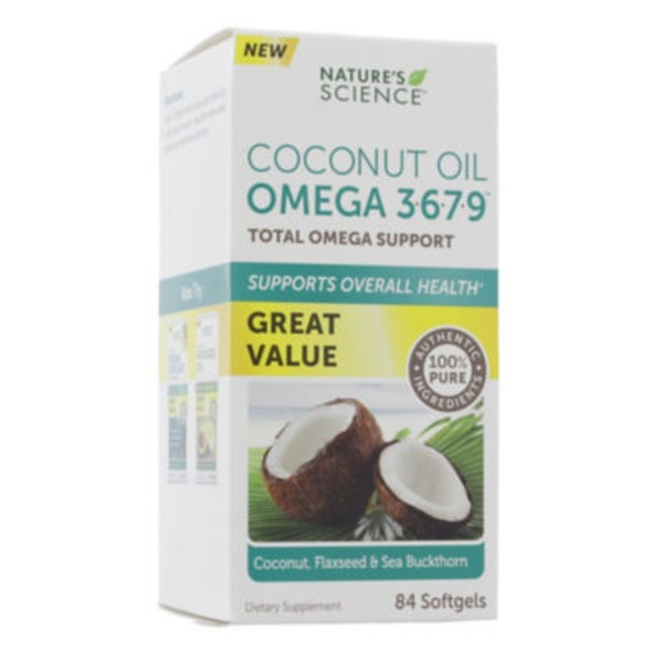 Phytogenix Coconut Oil With Omega 3-6-7-9 - 84 CT