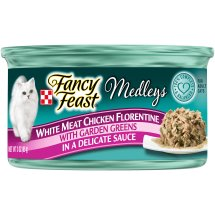 Purina Fancy Feast Medleys White Meat Chicken Florentine Cat Food 3 oz. Can