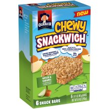 Quaker® Chewy Snackwich™ Apples & Caramel Snack Bars 6-1.41 oz. Bars