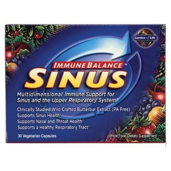 Garden of Life Herbal Immune Balance Sinus Support Vegetarian Capsules
