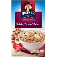 Quaker Oatmeal Raisin Date & Walnut Instant Oatmeal