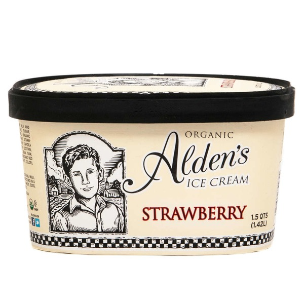 Alden's Organic Strawberry Ice Cream