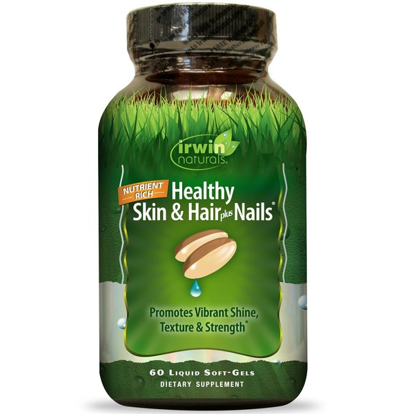 Irwin Naturals Healthy Skin & Hair Plus Nails Liquid Soft-Gels