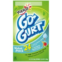 Yoplait Go-Gurt Cool Cotton Candy/Strawberry Banana Burst Variety Pack Portable Low Fat Yogurt