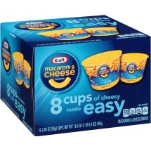 Kraft Macaroni and Cheese Dinner Easy Original Flavor, 8 count, 2.05 oz