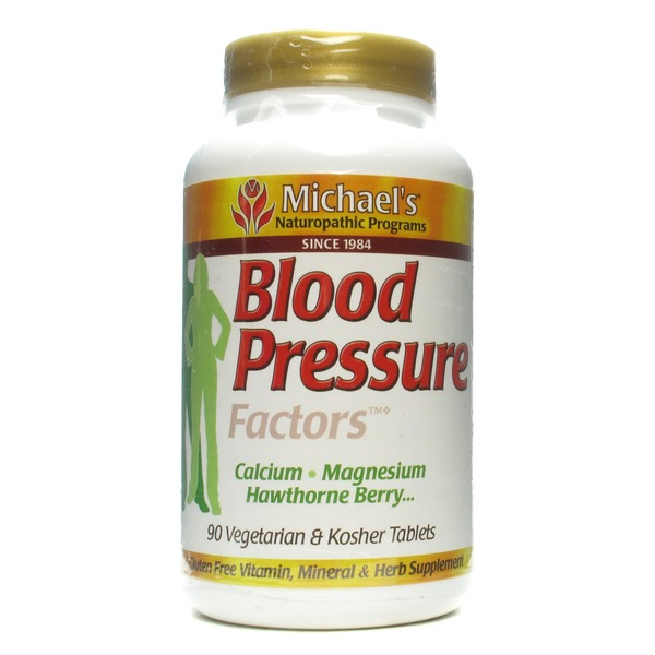 Michael's Blood Pressure Factors Berry Calcium Magnesium Hawthorne Tablets