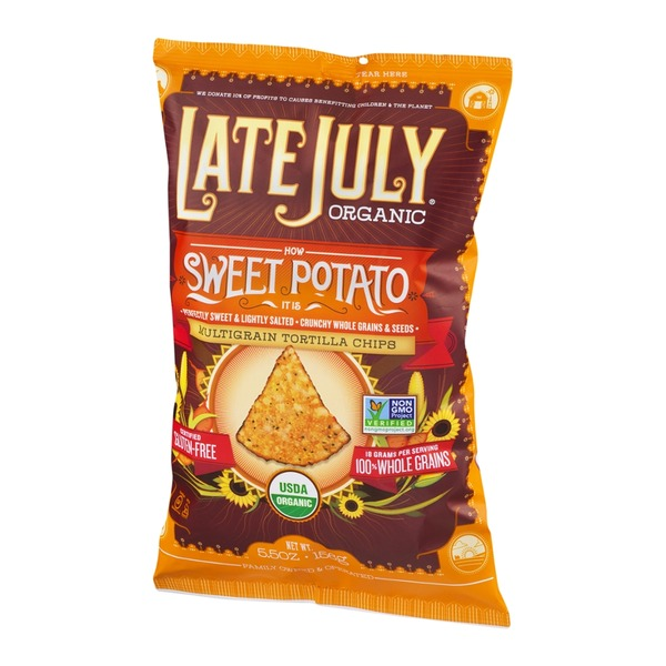 Late July Organic Multigrain Tortilla Chips Sweet Potato