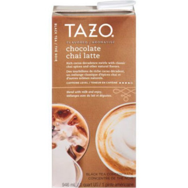 Tazo Tea Black Tea Chai Chocolate Latte Tea Concentrate