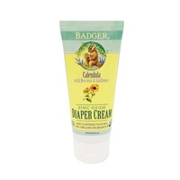 Badger Calendula with Beeswax & Sunflower Zinc Oxide Diaper Cream