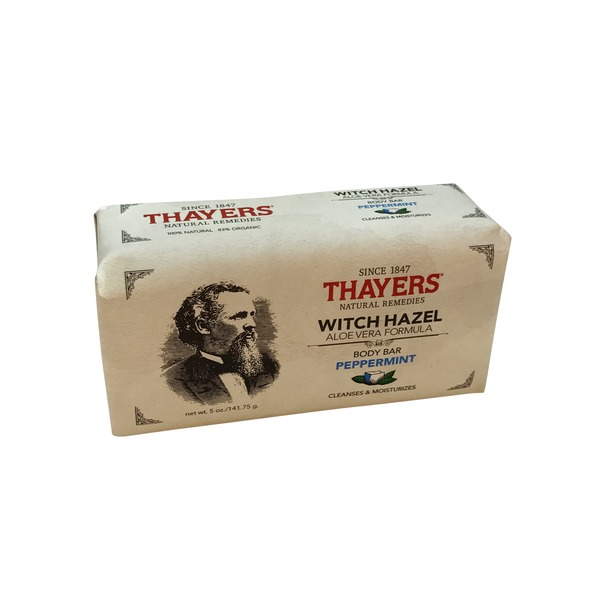 Thayer's Natural Remedies Witch Hazel Aloe Vera Formula Body Bar Peppermint