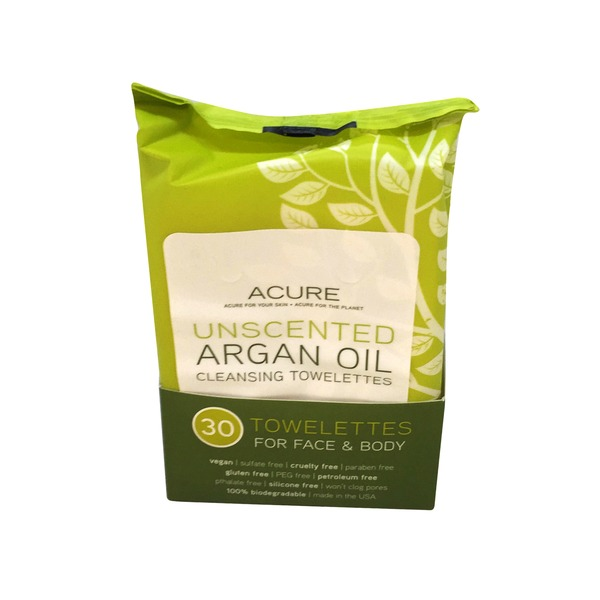 Acure Argan Oil Cleansing Towelettes Unscented