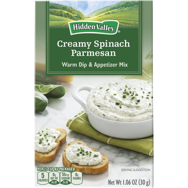 Hidden Valley Warm Dip & Appetizer Mix Creamy Spinach Parmesan