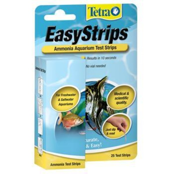 Tetra Easy Strips Ammonia Aquarium Test Strips Pack Of 25 Test Strips