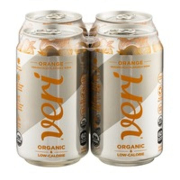 Veri Organic Low Calorie Soda Orange - 4 PK