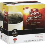 Folgers Gourmet Selections Classic Roast Ground Coffee K-Cups, 18 Ct