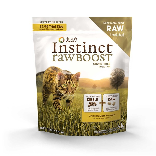 Nature's Variety Raw Boost Grain Free Chicken Meal Cat Food .88 Lbs.