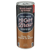 High Brew Coffee Dairy Free Black & Bold