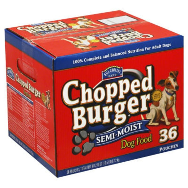 Hill Country Fare Semi Moist Chopped Burger Dog Food 36 Ct