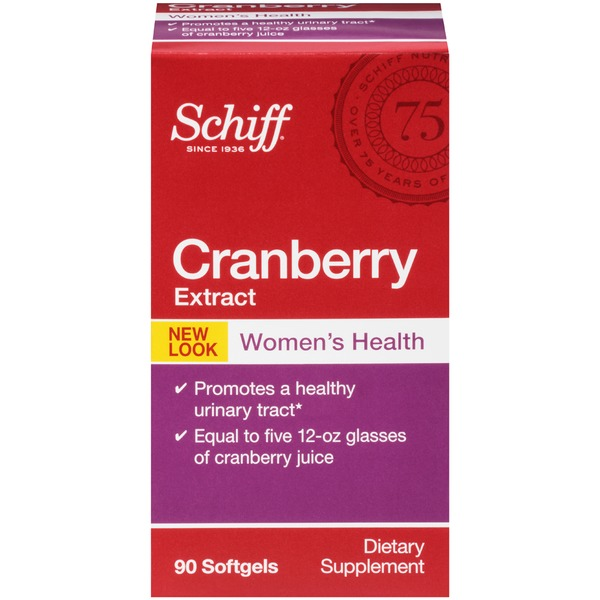 Schiff Women's Health Cranberry Extract Dietary Supplement