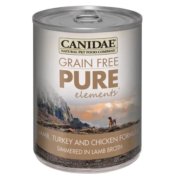 Canidae Grain Free Pure Elements Lamb, Turkey & Chicken Formula Simmered in Lamb Broth Dog Food