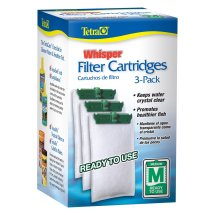 Tetra Whisper Replacement Carbon Filter Cartridges Medium 5-15, 3 ct