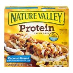 Nature Valley Chewy Granola Bar, Protein, Coconut Almond, Gluten Free, 5 Bars - 1.4 oz, 1.42 OZ