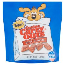 Canine Carry Outs Beef Flavor Dog Treats, 50-Ounce
