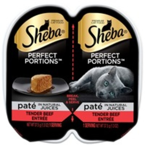 Sheba Perfect Portions Paté Beef Entrée Premium Cat Food