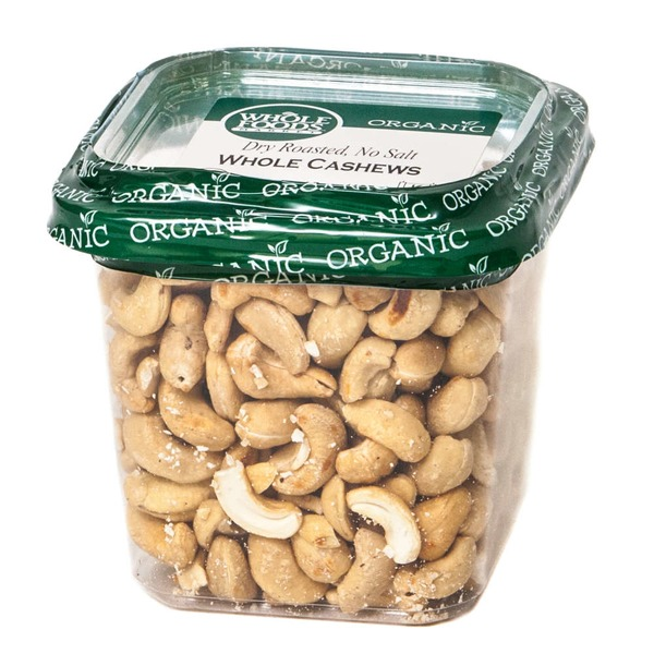Whole Foods Market Organic Whole Cashews Dry Roasted No Salt