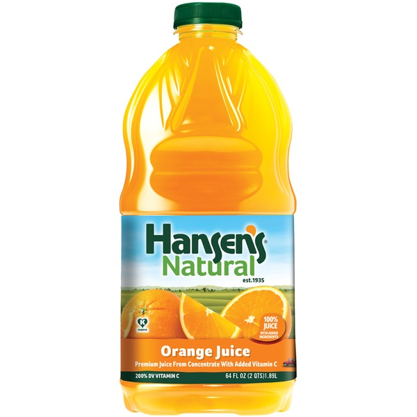 Hansen's Natural Natural Orange 100% Juice
