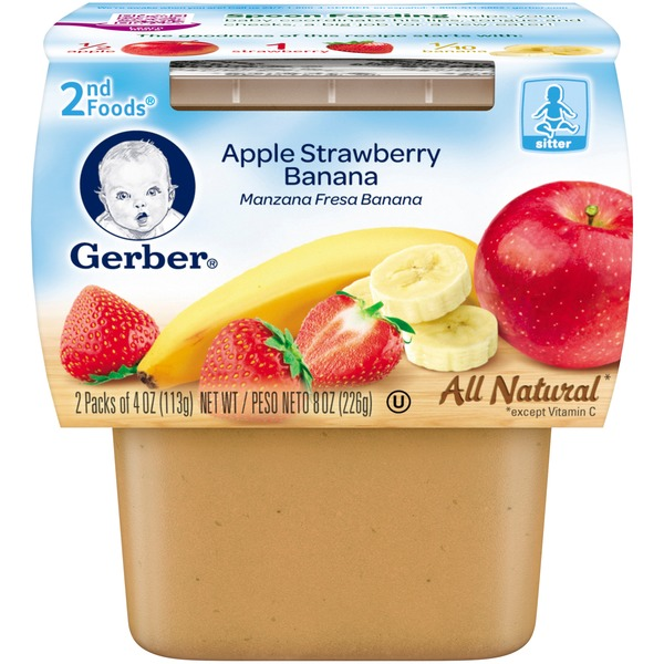 Gerber 2 Nd Foods Apple Strawberry Banana Baby Food