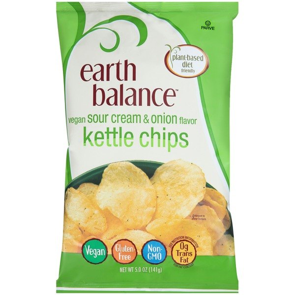 Earth Balance Vegan Sour Cream & Onion Kettle Chips