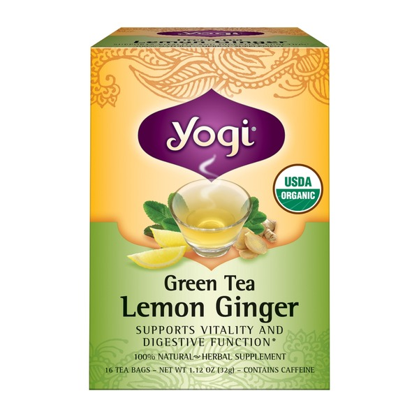Yogi Green Tea Lemon Ginger Herbal Tea