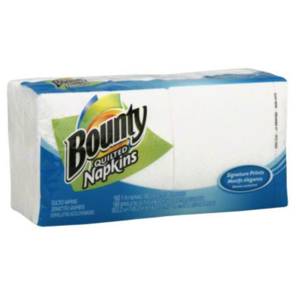 Bounty Basic Paper Napkins, Select Prints, 160 Count Towels/Napkins