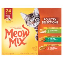 Meow Mix Poultry Selections Variety Pack Wet Cat Food, 2.75 Oz, 24 Ct