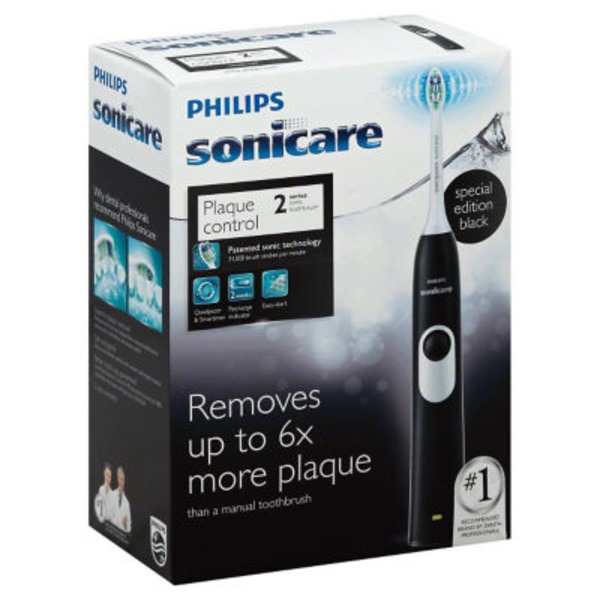 Sonicare Toothbrush, Sonic, Black, 2 Series Plaque Control