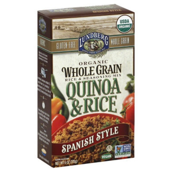 Lundberg Family Farms Organic Whole Grain Spanish Style Quinoa & Rice